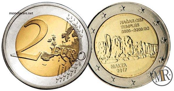 2 Euro Commemorativi Malta 2017 Templi di Ħaġar Qim