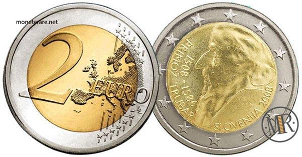 2 Euro Commemorativi Slovenia 2008 Primoz Trubar