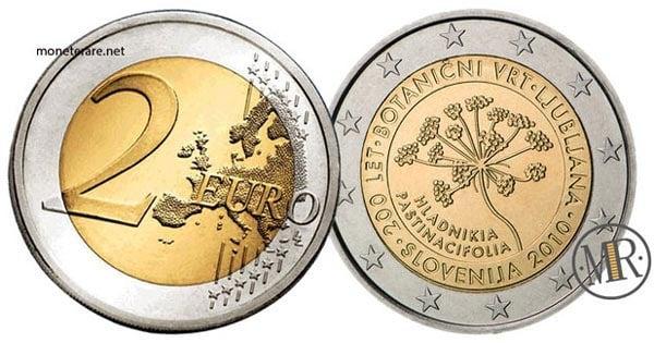 2 Euro Commemorativi Slovenia 2010 Orto Botanico Lubiana