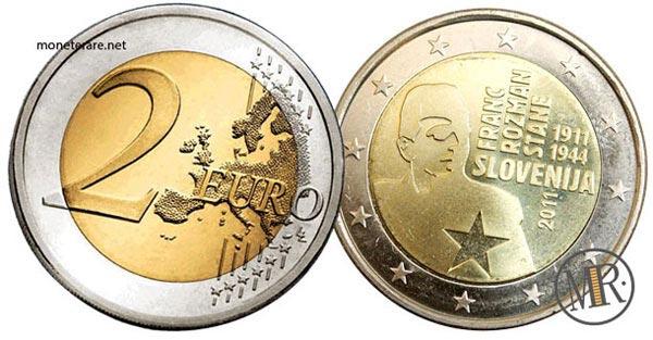 2 Euro Commemorativi Slovenia 2011 Franc Rozman