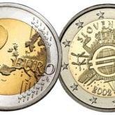 2 Euro Slovenia 2012 – 10° anniversario dell'Euro