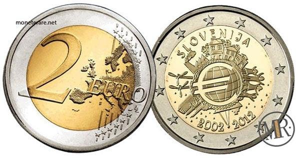 2 Euro Commemorativi Slovenia 2012