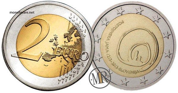 2 Euro Commemorativi Slovenia 2013 Grotte di Postumia