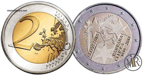 2 Euro Commemorativi Slovenia 2014  Barbara di Celje