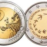 2 Euro Slovenia 2017 – 10° Anniversario dell'Introduzione dell'Euro in Slovenia