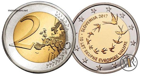 2 Euro Commemorativi Slovenia 2017 Decimo Anniversario Euro