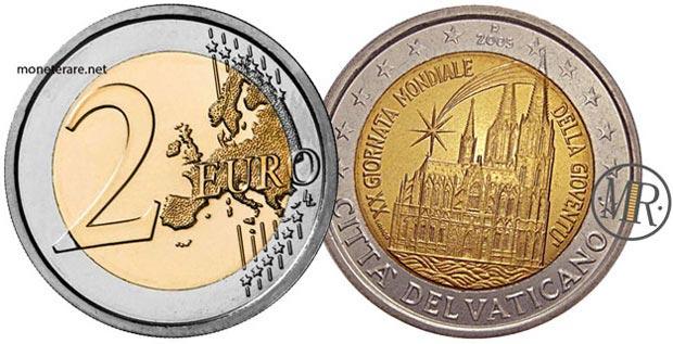 2 Euro Commemorativi Vaticano 2005