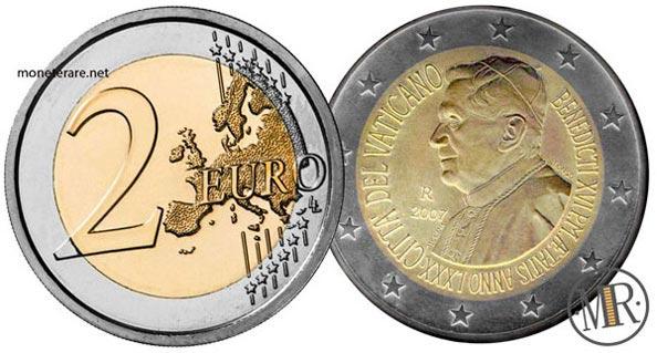 2 Euro Commemorativi Vaticano 2007 Papa Benedetto XVI