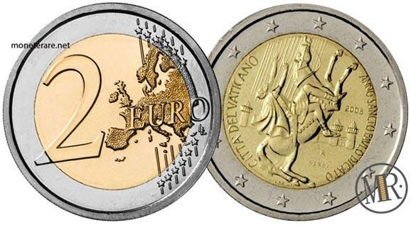 2 Euro Commemorativi Vaticano 2008 San Paolo