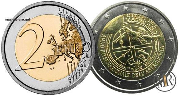 2 Euro Commemorativi Vaticano  2009 Anno internazionale dell'astronomia