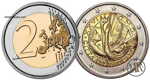 2 Euro Commemorativi Vaticano 2011
