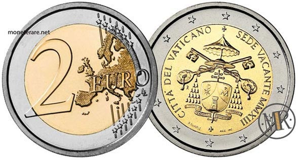 2 Euro Commemorativi Vaticano  2013 Sede Vacante
