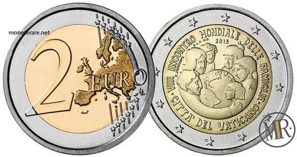 2 Euro Commemorativi Vaticano 2015 VIII Incontro mondiale delle famiglie