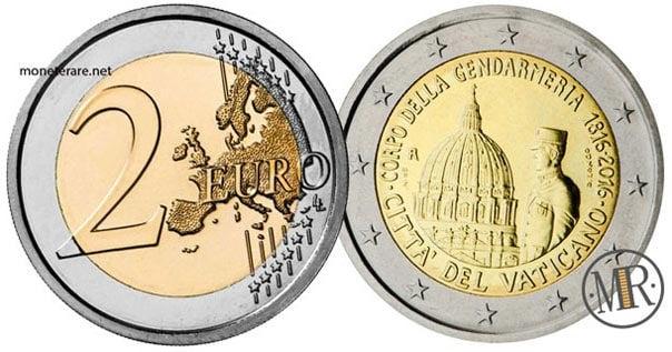 2 Euro Commemorativi Vaticano 2016 Gendarmeria Vaticana