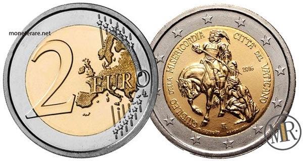 2 Euro Commemorativi Vaticano 2016 Giubileo straordinario della Misericordia