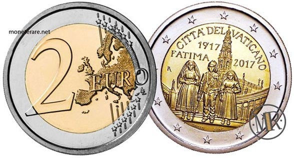 2 Euro Commemorativi Vaticano 2017 Madonna di Fatima