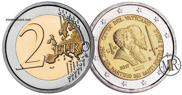 2 Euro Commemorativi Vaticano 2017 Martirio San Pietro e Paolo