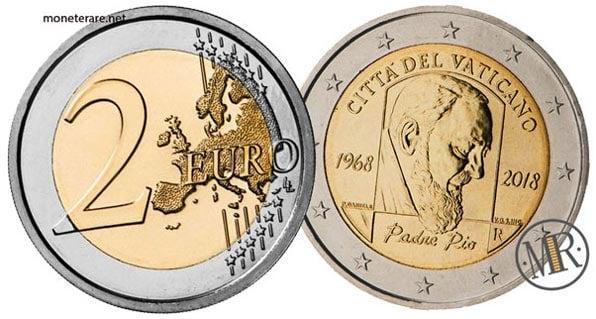 2 Euro Commemorativi Vaticano 2018 Padre Pio