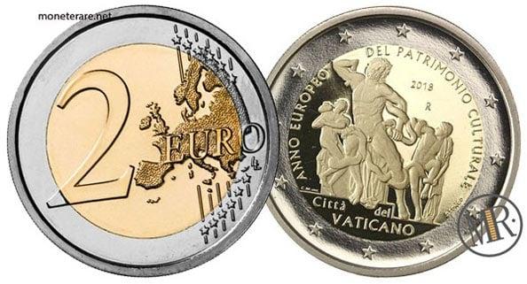 2 Euro Commemorativi Vaticano 2018 Patrimonio Culturale