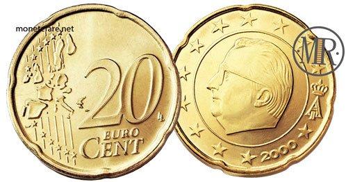 20 Centesimi Euro Belgio Prima Serie 1999 2006
