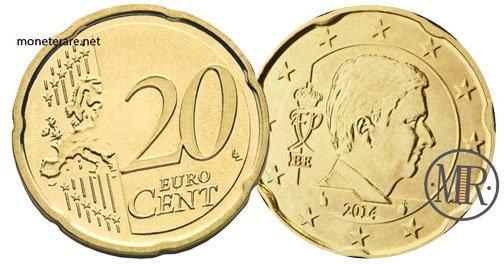 20 Centesimi Euro Belgio Quarta Serie 2014