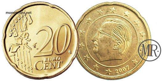 20 Centesimi Euro Belgio Seconda Serie