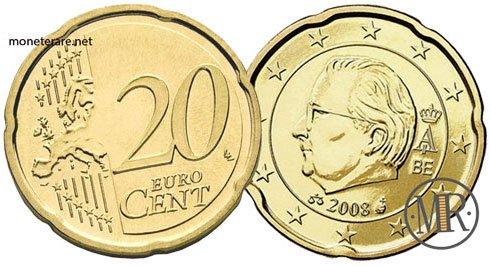 20 Centesimi Euro Belgio Terza Serie 2008 2013