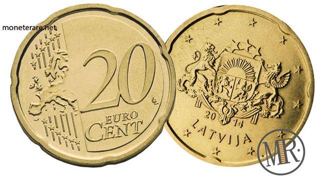 20 Centesimi Euro Lettonia