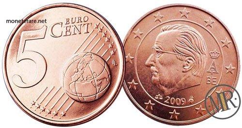 5 Centesimi Euro Belgio Terza Serie 2009 2013