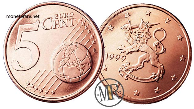 5 Cents Finnish Euro Coin from Finland