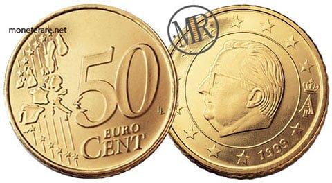50 Centesimi Euro Belgio Prima Serie 1999 2006