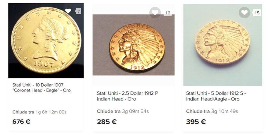 comprare monete d'oro in dollari