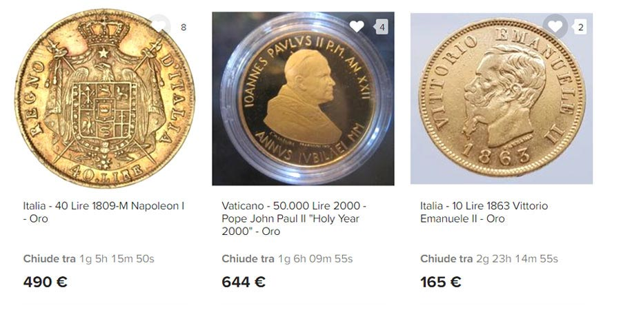 cómo comprar monedas en liras de oro