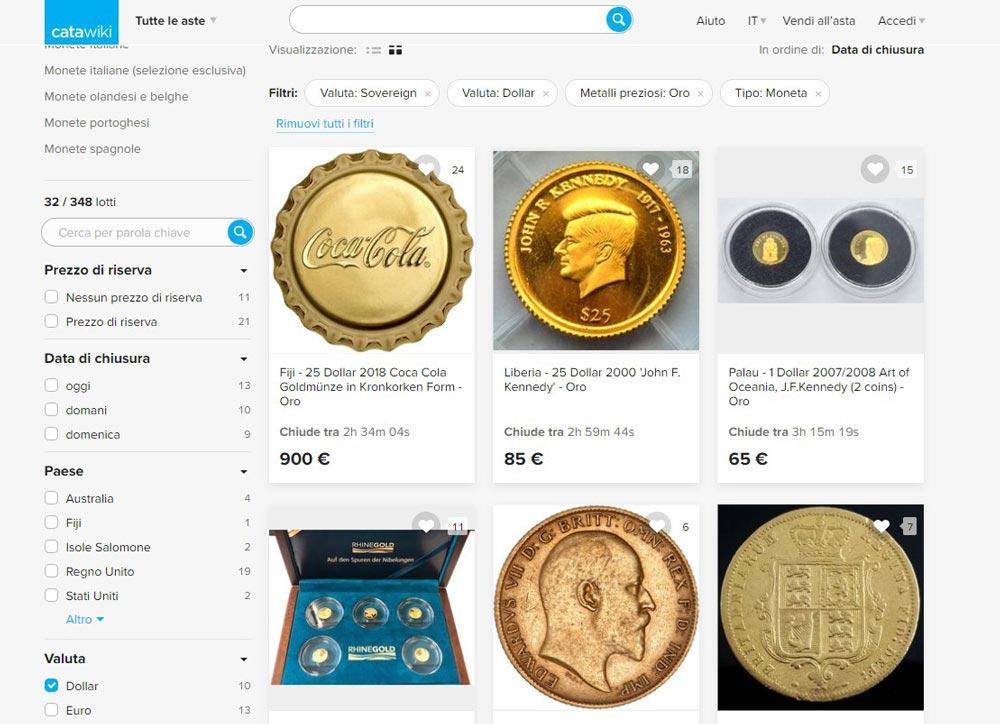 comprare monete online