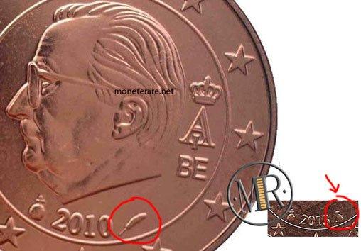 1 Centesimo Euro Belgio Terza Serie varianti