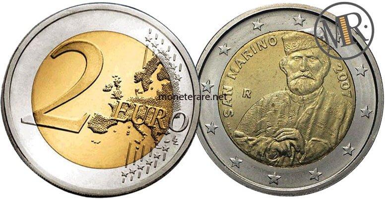 2 Euro Commemorativi San Marino 2007  Giuseppe Garibaldi