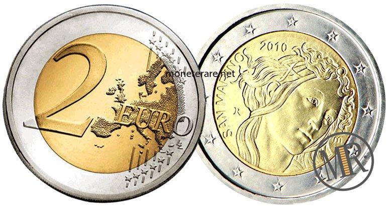 2 Euro San Marino 2010 Botticelli - Commemorativi