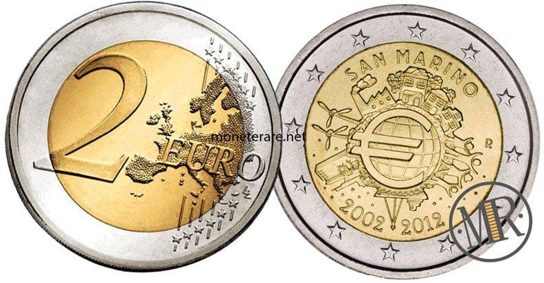 2 Euro Commemorativi San Marino 2012 Euro
