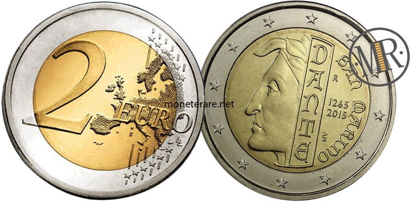 2 Euro San Marino 2015 Dante Alighieri - Commemorativi