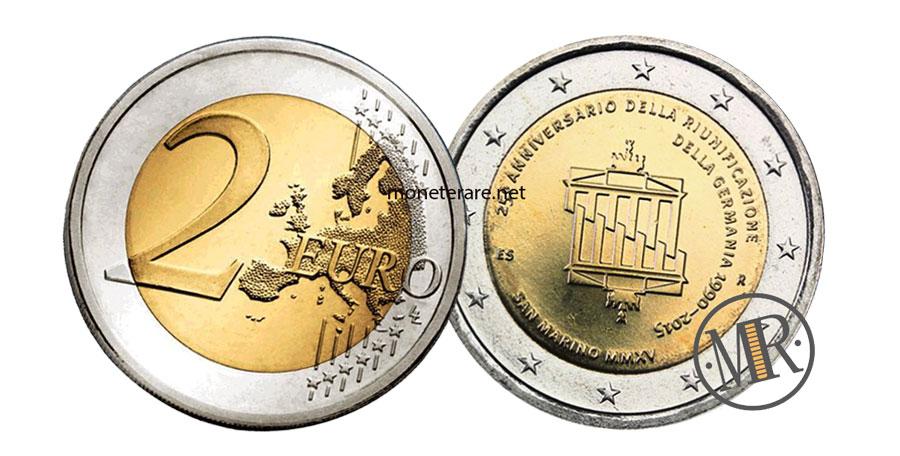 2 Euro Commemorativi San Marino 2015 Riunificazione della Germania