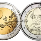 2 Euro San Marino 2016 Shakespeare