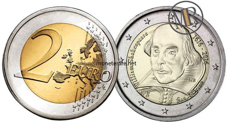 2 Euro Commemorativi San Marino 2016