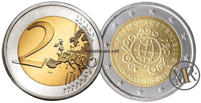 2 Euro Commemorativi San Marino 2017 Turismo Sostenibile