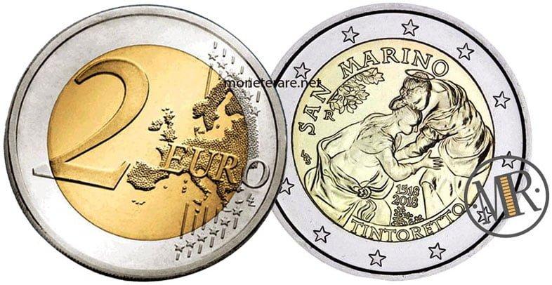 2 Euro Commemorativi San Marino 2018 Tintoretto