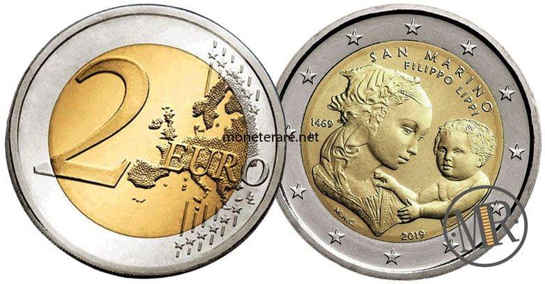 2 Euro Commemorativi San Marino 2019 Leonardo da Vinci