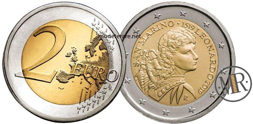 2 Euro San Marino 2019 Leonardo da Vinci - Commemorativi