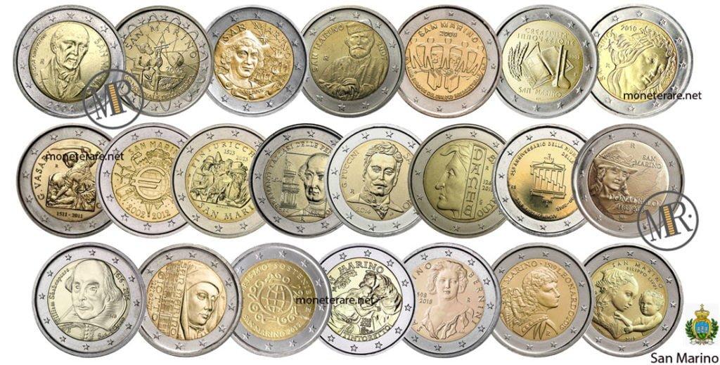 2 Euro Commemorativi San Marino Eurocollezione