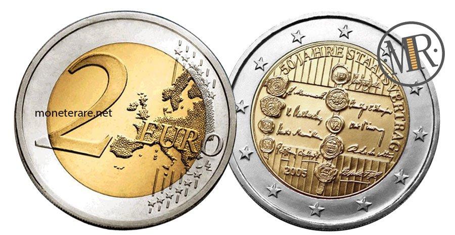 2 Euro Commemorativi Austria 2005 Trattato di Stato