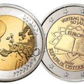 2 Euro Austria 2007 Trattati Roma
