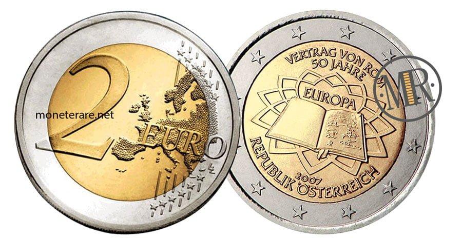 2 Euro Commemorativi Austria 2007 Trattati di Roma